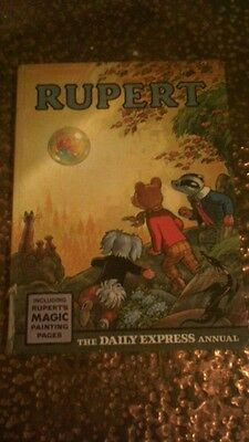 """Vintage 1968 """"rupert"""" The Daily Express Annual, Children's Book"""