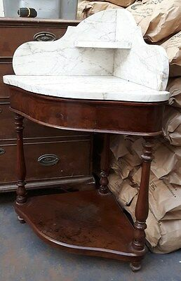 Victorian Mahogany Washstand with Marble Top