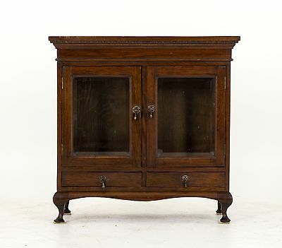 B555 Antique Scottish Miniature Mahogany Display Cabinet Cupboard