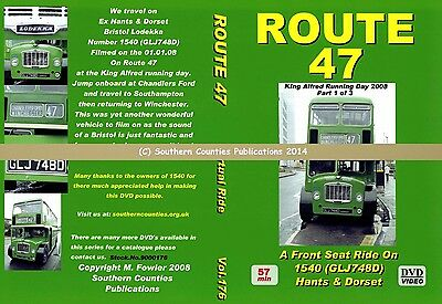 Vol.176 King Alfred Southampton to Winchester Virtual Ride Bus Transport DVD