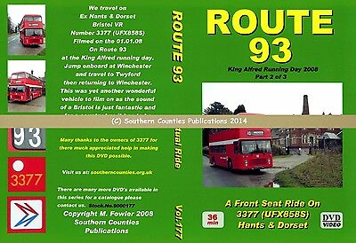 Vol.177 King Alfred Winchester to Twyford Virtual Ride Bus Transport DVD