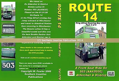 Vol.178 King Alfred Winchester to Alresford Stn Virtual Ride Bus Transport DVD
