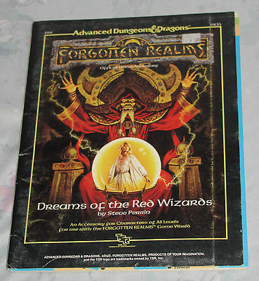 1988 TSR Dungeons & Dragons Forgotten Realms FR6 9235 Dreams of the Red Wizards