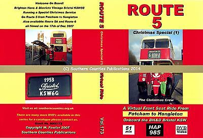 Vol.173 BH&D Route 5 Patcham to Hangleton Virtual Ride Bus Transport DVD