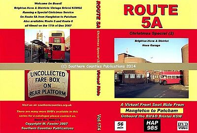 Vol.174 BH&D Route 5A Hangleton to Patcham Virtual Ride Bus Transport DVD