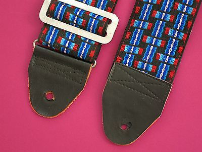Vintage 70's Hippie Kitschy Woven Guitar Strap Funky & Sweet Unique!
