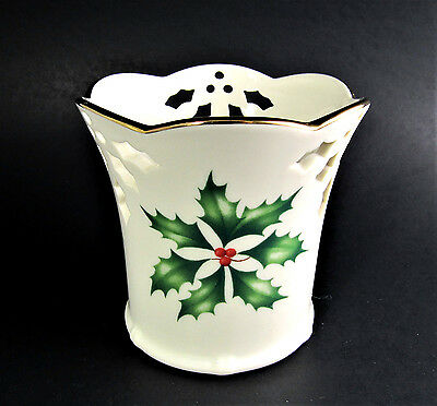Lenox Holiday Dimention Christmas Votive Candle Holder (E6)