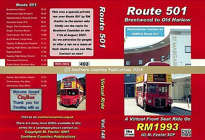 Vol.146 Route 501 Brentwood to Old Harlow by RM Virtual Ride Bus Transport DVD