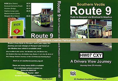 Vol.149 Southern Vectis Route 9 Ryde to Newport Virtual Ride Bus Transport DVD
