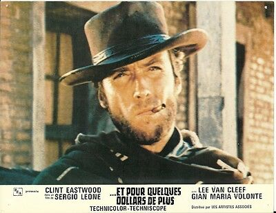 Original French Lobby Card - Clint Eastwood in For A Few Dollars More   1965