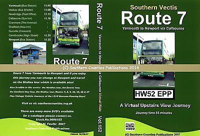 Vol.152 Southern Vectis Rte 7 Yarmouth to Newport Virtual Ride Bus Transport DVD