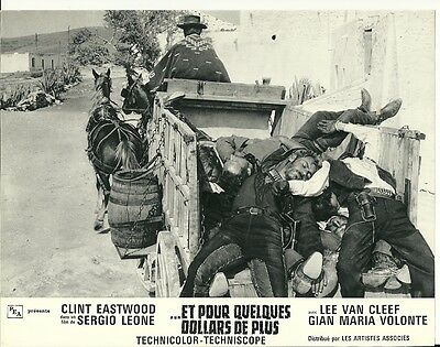 Original French Lobby Card # 2 - Clint Eastwood in For A Few Dollars More   1965