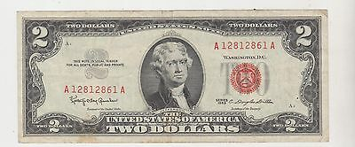 Usa 1963 Two Dollar Banknote  United States Note A/a 12812861