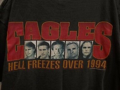 The Eagles Hell Freezes Over Tour 1994 Black Vintage Rock Music Adult XL T-Shirt