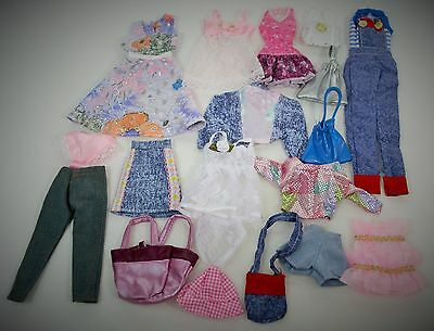 BARBIE DOLL NEW OUTFITS 18 pc LOT W/ PANTS, TOPS, PURSES / CLOTHES / ACCESSORIES