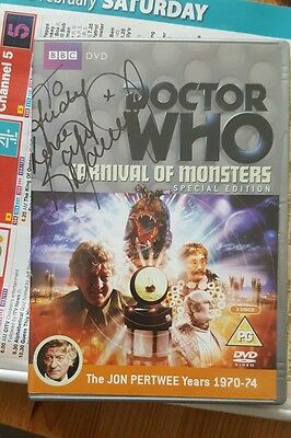 Dr Who carnival of monsters signed dvd