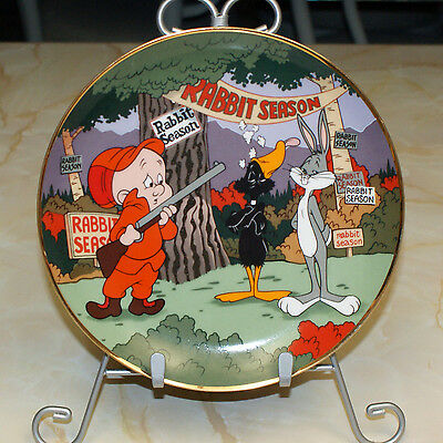 Looney Tunes Rabbit Season Bugs Bunny Collector's Plate Limited Edition 1992