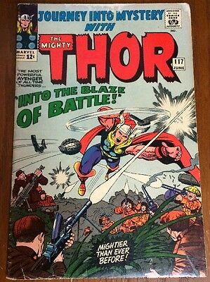 Journey Into Mystery 117 Thor VG Cond Jack Kirby Art June 1965