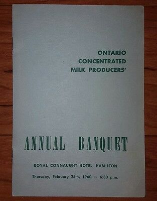 Ontario Concentrated Milk Producers Annual Banquet 1960