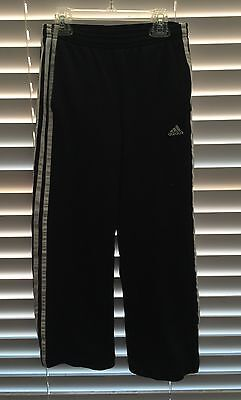 Adidas Girls/Boys Black And White Workout Pants. Size M