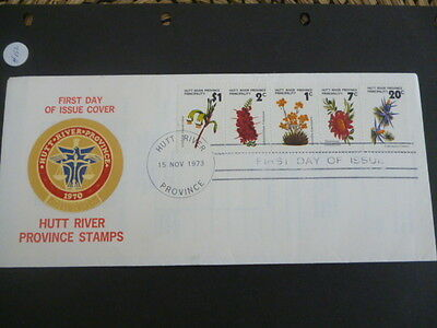 hutt river 1973  fdc wild flowers ist issue   full set of stamps