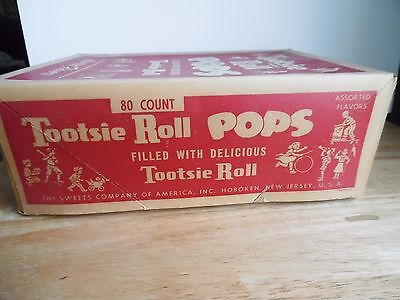 Vintage Tootsie Pop Candy Box 2¢ Two-Tone 80 count ~GCC~ 1 DAY SHIPPING