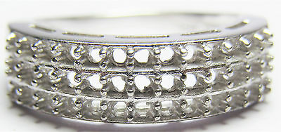 Semi Mount Ring 39 Round 2 mm Sterling Silver vintage Women Gift Ring Jewelry