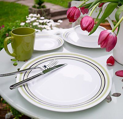 Plates Dishes Dinnerware Bowls Cups Dinner Set For 4 Green Corelle 16 Pc New