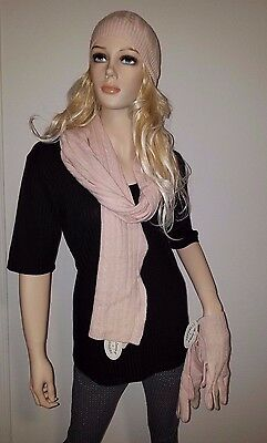The Luxury of Cashmere Scarf Hat Gloves Combination Set  New w/Tags Winter Wear