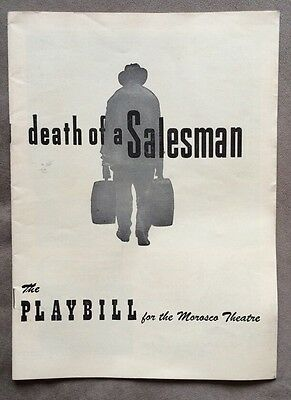 """Vintage 1950s PLAYBILL """"Death Of A Salesman"""" For The Morosco Theatre"""