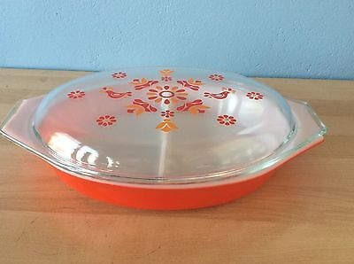 Pyrex Divided Dish - Red