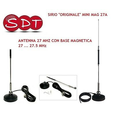 Sirio Original Mini Mag 27A Antenna 27 Mhz With Magnetic Base 27 27.5 M