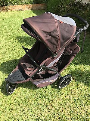 Phil & Teds Double Pram (with New Seat And Frame Incl.)