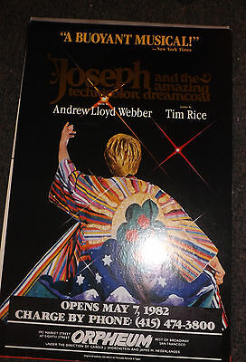 Joseph And The Amazing Technicolor Dreamcoat Poster- Laurie Beechman - Sf 1982