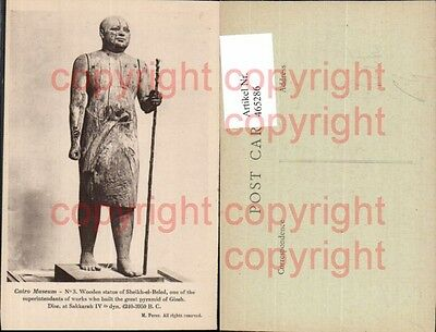 465286,Cairo Museum Wooden statue of Sheikh-el-Beled Antike