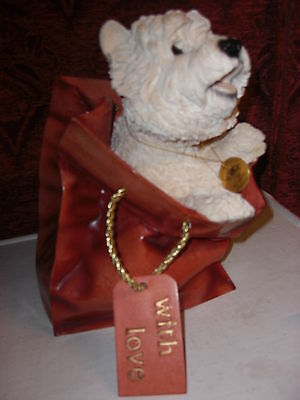 Large Leonardo Dog Collection - Large Westie in a Bag - Ornament-Great gift