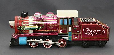 RARE Vintage MF170 Battery Operated SFTF Train Locomotive Litho Tin Toy