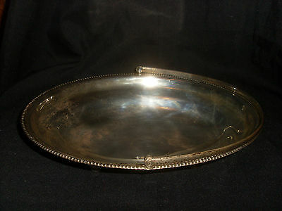 Antique Silver/Silver Plate Oval Handled Dish