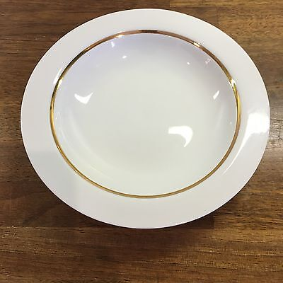 Thomas Desert Bowl White with Gold Line 21.5cm