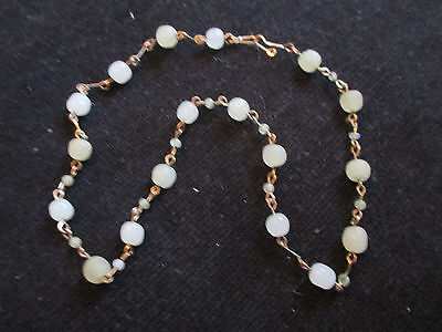 1920s beads on gold coloured chain
