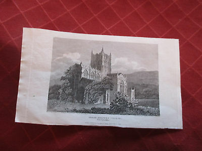 1808 print of great malvern church worcestershire