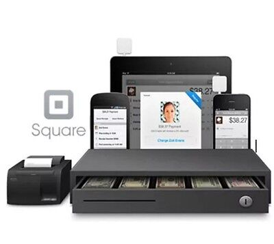 SQUARE and SHOPIFY POS HARDWARE BUNDLE - Network Receipt Printer and Cash Drawer