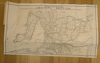 The Tourists' Road Map Of South Australia Central Section On Linen Late 1920's