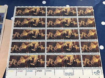 USA nhm postfrisch 2 complete sheets pristine with all edge plate numbers
