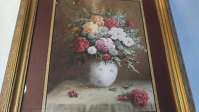 "Two Home Interiors Beautiful Floral  Pictures By Jack Terry 24""X28"""