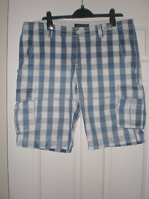 Tommy Hilfiger Blue/White Checked Shorts size 36