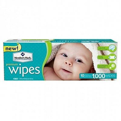 1000 ct Premium Baby Wipes Clean Clothes Size Diaper Room Boy Girl Cloth Infant