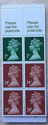 FH23a £1 Punch No.1 Folded Booklet Corrected Rate
