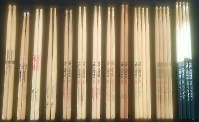15 Pairs of Drumsticks, Very lightly used Vic Firth, Promark, Regal Tip, Wincent