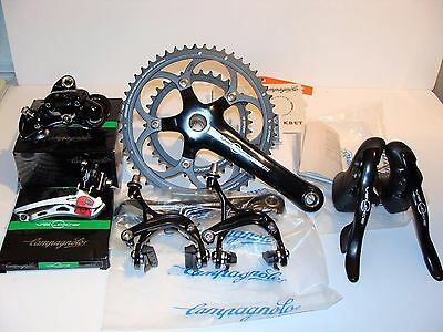 New Campagnolo Veloce 10 Speed 50/34 Compact 8 Piece Groupset 172.5 13-29